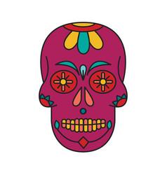 calavera icon cartoon style vector image