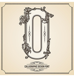 Calligraphic font Letter O vector image