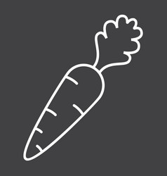Carrot line icon vegetable and diet vector