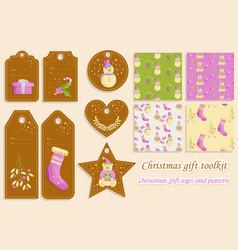 Christmas gift toolkit vector