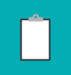 clipboard icon isolated on blue background vector image