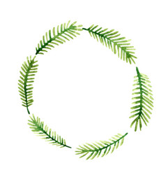coconut leaves or palm leaves wreath banner vector image