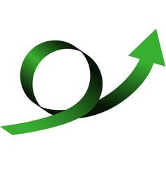 color arrow loop vector image