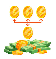 commission business purchase commission vector image