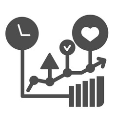 Commodity turnover solid icon business graph vector
