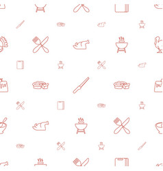 Cooking icons pattern seamless white background vector
