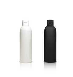 cosmetic plastic bottles 3d vector image