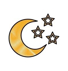 Crescent moon icon image vector