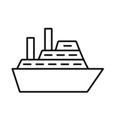 cruise ship line icon on white background vector image