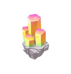 Crystal gem or gemstone jewel rhinestone diamond vector