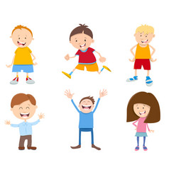 Cute cartoon children set vector