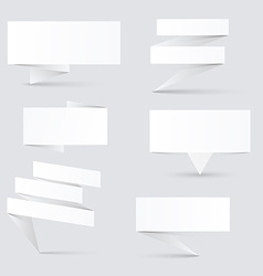 Decorated paper banners vector