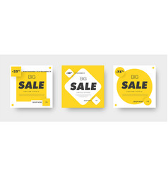 Design square white banners for sale with a vector