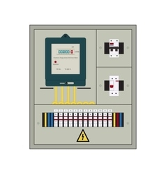 Electrical panel box vector
