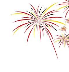 Firework design on white background vector image
