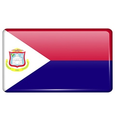 Flags Saint Martin in the form of a magnet on vector