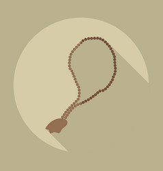 Flat modern design with shadow icons rosary vector