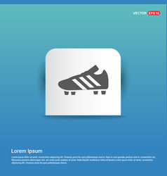 Football boot icon - blue sticker button vector