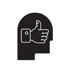 good idea head black concept icon good vector image