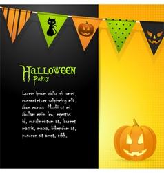 Halloween pumpkin panel background vector