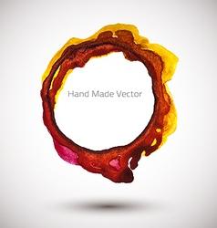 Handmade Watercolor Ring vector image