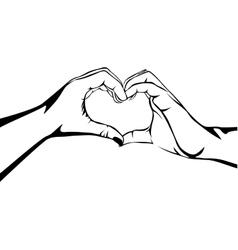 Hands making heart gesture image vector