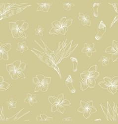 hawaiian floral pattern vector image