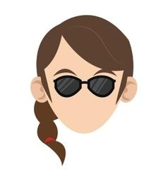 head of woman icon vector image
