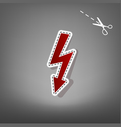 High voltage danger sign red icon vector