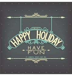 Holiday retro design lettering ornament vector