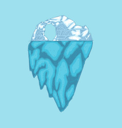iceberg polar ice mountain glacier icon vector image