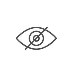 Invisibility line icon vector