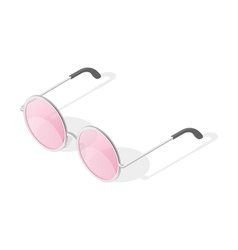 Isometric 3d of round glasses vector