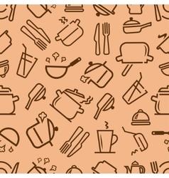 kitchenware seamless vector image