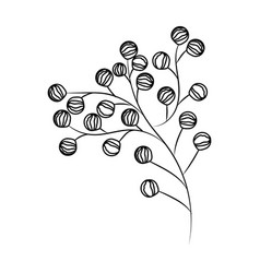 leaves bouquet nature drawing vector image