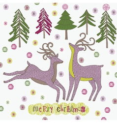 merry christmas drawing vector image