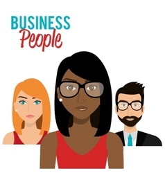 Office and business people vector