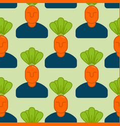 office vegetables garden seamless pattern manager vector image