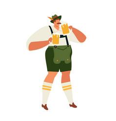 Oktoberfest guy celebrating vector