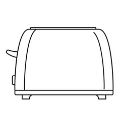 Old toaster icon outline style vector