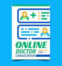 online doctor consultation advertise banner vector image