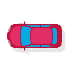 passenger car top view flat style icon vector image
