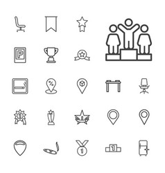 Place icons vector