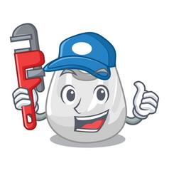 plumber plastic bag mascot cartoon vector image