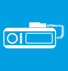 Radio taxi icon white vector