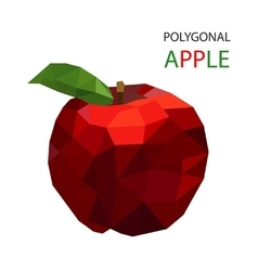 red apple polygonal design vector image