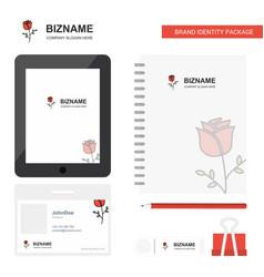 rose business logo tab app diary pvc employee vector image