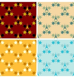 seamless colored figures pattern set vector image