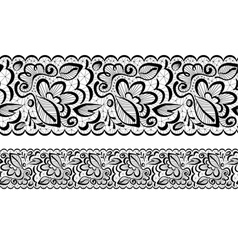 Seamless Lace flowers and leaves vector