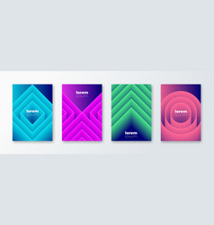 set cover design with abstract geometric shapes vector image